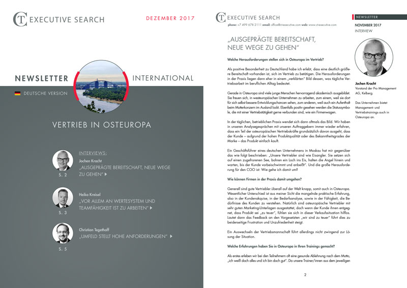 beitrag promanagement executive search